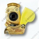 compressed air connector head 2 yellow M16x1,5 tracktor