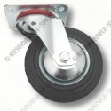 solid-rubber swivel castor 80