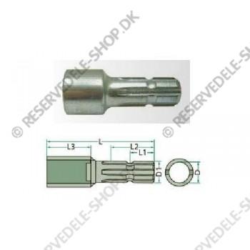 adapter round hole diam. 25