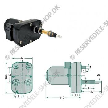 wiper motor 115gr 90mm
