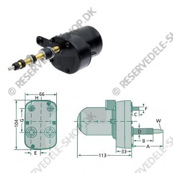 wiper motor 115gr 110-100mm