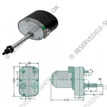wiper motor 135gr 105mm