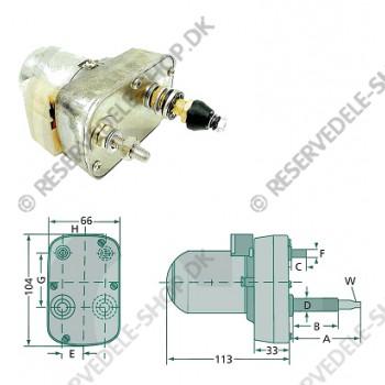 wiper motor 135gr 53-34mm